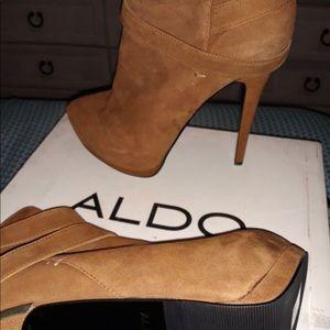 Brown Aldo High Heel Ankle Boots